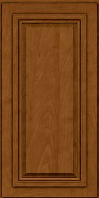 Square Raised Panel - Solid (AA7M) Maple in Rye w/Sable Glaze - Wall