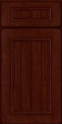 Square V - groove - Solid (AA9C) Cherry in Burnished Cabernet - Base