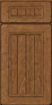 Square V - groove - Solid (AA9M) Maple in Burnished Rye - Base
