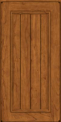 Square V - groove - Solid (AA9C) Cherry in Burnished Golden Lager - Wall