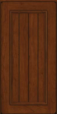 Square V - groove - Solid (AA9C) Cherry in Burnished Autumn Blush - Wall