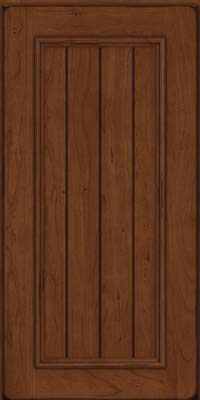 Square V - groove - Solid (AA9C) Cherry in Burnished Chocolate - Wall