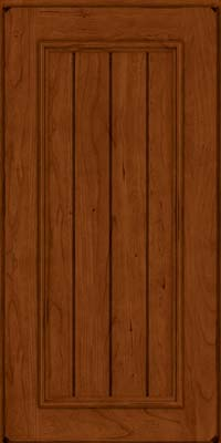 Square V - groove - Solid (AA9C) Cherry in Burnished Cinnamon - Wall