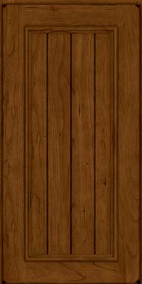 Square V - groove - Solid (AA9C) Cherry in Burnished Ginger - Wall
