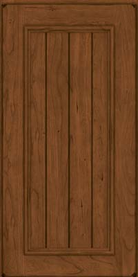 Square V - groove - Solid (AA9C) Cherry in Burnished Rye - Wall