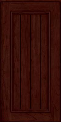 Square V - groove - Solid (AA9C) Cherry in Cabernet - Wall