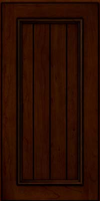 Square V - groove - Solid (AA9C) Cherry in Chocolate w/Ebony Glaze - Wall