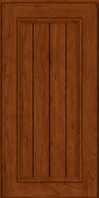 Square V - groove - Solid (AA9C) Cherry in Cinnamon - Wall