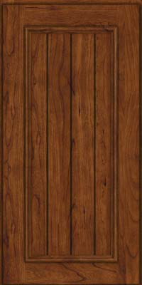 Square V - groove - Solid (AA9C) Cherry in Cognac - Wall