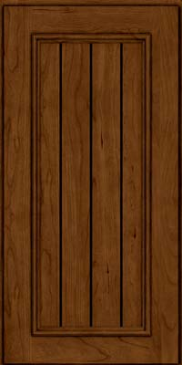 Square V - groove - Solid (AA9C) Cherry in Ginger w/Sable Glaze - Wall