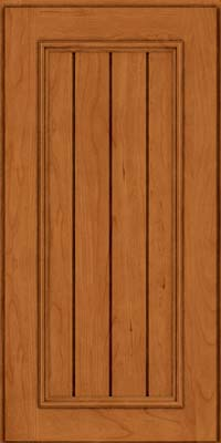 Square V - groove - Solid (AA9C) Cherry in Honey Spice - Wall