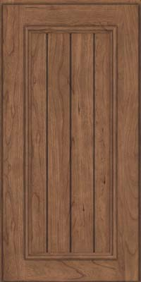 Square V - groove - Solid (AA9C) Cherry in Husk - Wall