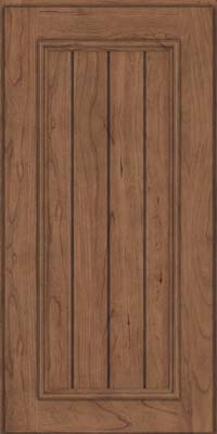 Square V - groove - Solid (AA9C) Cherry in Husk Suede - Wall