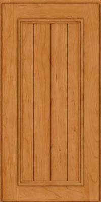 Square V - groove - Solid (AA9C) Cherry in Natural - Wall