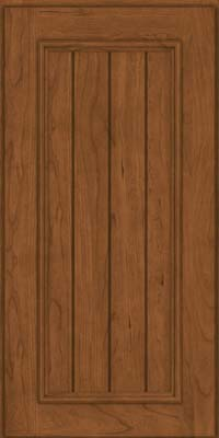 Square V - groove - Solid (AA9C) Cherry in Rye - Wall