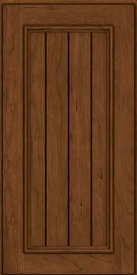 Square V - groove - Solid (AA9C) Cherry in Rye w/Sable Glaze - Wall