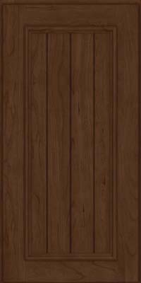 Square V - groove - Solid (AA9C) Cherry in Saddle Suede - Wall