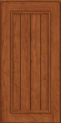 Square V - groove - Solid (AA9C) Cherry in Sunset - Wall