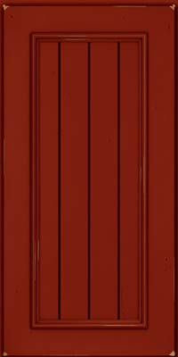 Square V - groove - Solid (AA9C) Cherry in Vintage Cardinal - Wall