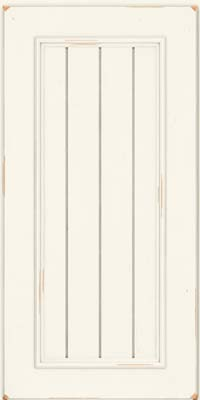 Square V - groove - Solid (AA9C) Cherry in Vintage Dove White - Wall
