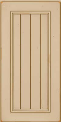 Square V - groove - Solid (AA9C) Cherry in Vintage Mushroom - Wall