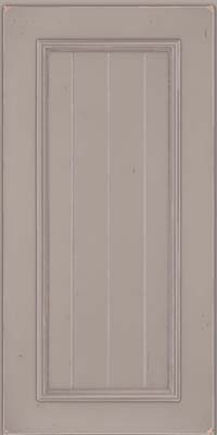 Square V - groove - Solid (AA9C) Cherry in Vintage Pebble Grey w/ Coconut Patina - Wall