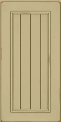 Square V - groove - Solid (AA9C) Cherry in Vintage Willow - Wall