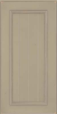 Square V - groove - Solid (AA9C) Cherry in Vintage Willow w/ Cinder Patina - Wall