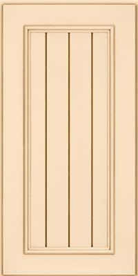 Square V - groove - Solid (AA9M) Maple in Biscotti w/Cocoa Glaze - Wall
