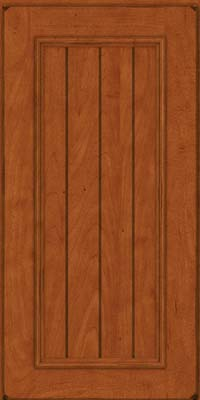 Square V - groove - Solid (AA9M) Maple in Burnished Cinnamon - Wall