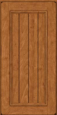 Square V - groove - Solid (AA9M) Maple in Burnished Praline - Wall