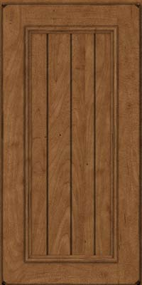 Square V - groove - Solid (AA9M) Maple in Burnished Rye - Wall