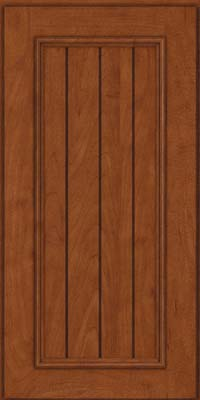 Square V - groove - Solid (AA9M) Maple in Chestnut - Wall