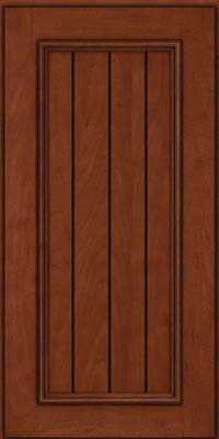 Square V - groove - Solid (AA9M) Maple in Chestnut w/Onyx Glaze - Wall