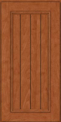 Square V - groove - Solid (AA9M) Maple in Cinnamon - Wall