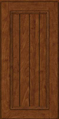 Square V - groove - Solid (AA9M) Maple in Cognac - Wall
