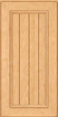 Square V - groove - Solid (AA9M) Maple in Honey Spice - Wall