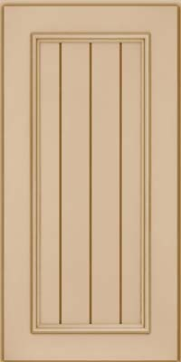 Square V - groove - Solid (AA9M) Maple in Mushroom - Wall
