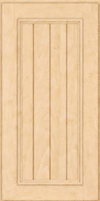 Square V - groove - Solid (AA9M) Maple in Natural - Wall