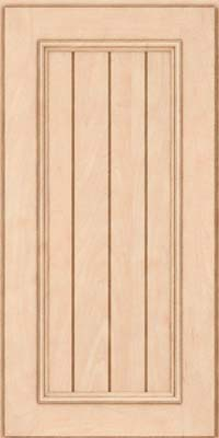 Square V - groove - Solid (AA9M) Maple in Parchment - Wall