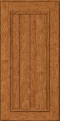 Square V - groove - Solid (AA9M) Maple in Praline - Wall