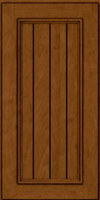 Square V - groove - Solid (AA9M) Maple in Rye w/Sable Glaze - Wall