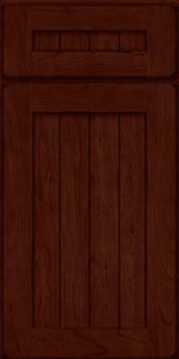 Square V - groove - Solid (AB0C) Cherry in Burnished Cabernet - Base