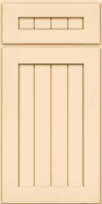 Square V - groove - Solid (AB0M) Maple in Biscotti w/Cocoa Glaze - Base