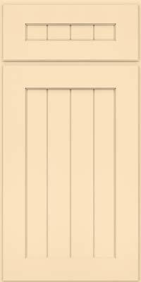 Square V - groove - Solid (AB0M) Maple in Biscotti w/Coconut Glaze - Base