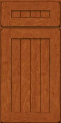 Square V - groove - Solid (AB0M) Maple in Burnished Cinnamon - Base