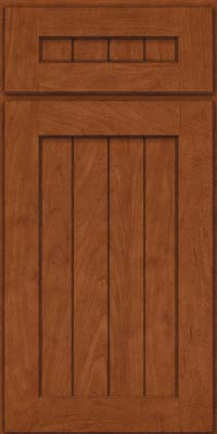 Square V - groove - Solid (AB0M) Maple in Chestnut - Base