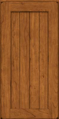 Square V - groove - Solid (AB0C) Cherry in Burnished Golden Lager - Wall