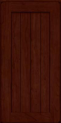 Square V - groove - Solid (AB0C) Cherry in Burnished Cabernet - Wall