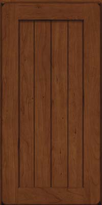 Square V - groove - Solid (AB0C) Cherry in Burnished Chocolate - Wall